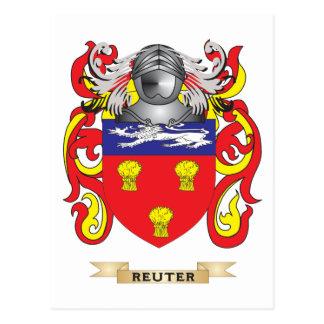 Escudo de armas de Reuter (escudo de la familia) Postal