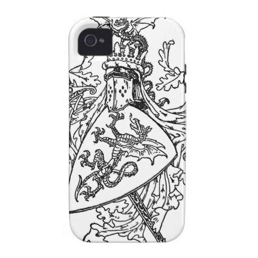 Escudo de armas de rey Arturo iPhone 4/4S Funda