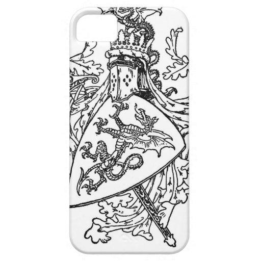 Escudo de armas de rey Arturo iPhone 5 Carcasas