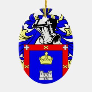 Escudo de armas de Reyes Adorno Navideño Ovalado De Cerámica