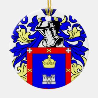 Escudo de armas de Reyes Adorno Navideño Redondo De Cerámica