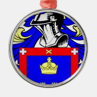 Escudo de armas de Reyes Adorno Navideño Redondo De Metal