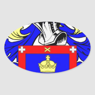 Escudo de armas de Reyes Pegatina Ovalada