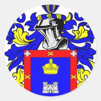 Escudo de armas de Reyes Pegatina Redonda