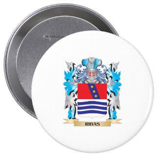 Escudo de armas de Ribas - escudo de la familia Pin Redondo 10 Cm