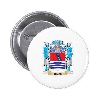 Escudo de armas de Ribas - escudo de la familia Pin Redondo 5 Cm