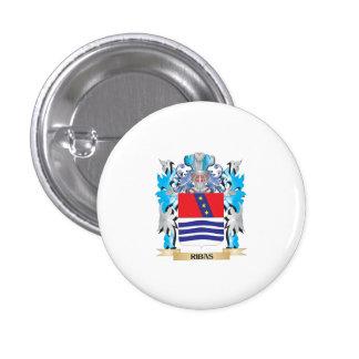 Escudo de armas de Ribas - escudo de la familia Pin Redondo 2,5 Cm