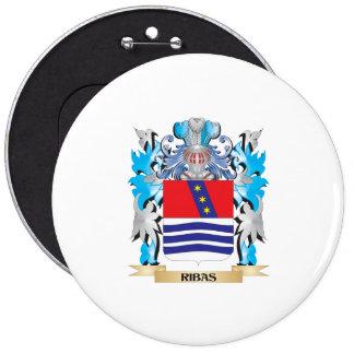 Escudo de armas de Ribas - escudo de la familia Pin Redondo 15 Cm