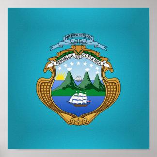 Escudo de armas de Rican de la costa Póster