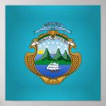 Escudo de armas de Rican de la costa Posters