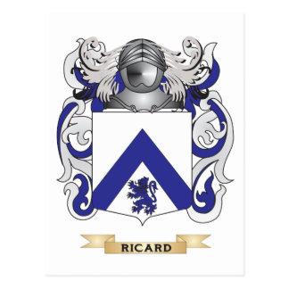 Escudo de armas de Ricard (escudo de la familia) Postal