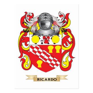 Escudo de armas de Ricardo (escudo de la familia) Tarjetas Postales
