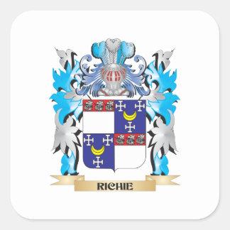 Escudo de armas de Richie - escudo de la familia Pegatinas Cuadradases