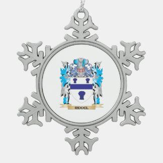 Escudo de armas de Riddel - escudo de la familia Adorno De Peltre En Forma De Copo De Nieve
