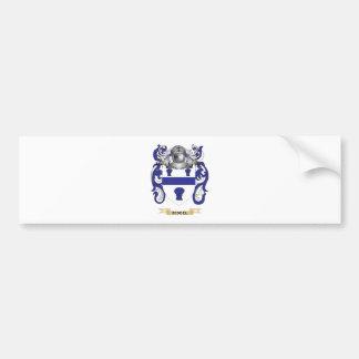 Escudo de armas de Riddel escudo de la familia Etiqueta De Parachoque