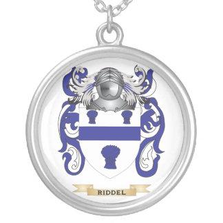 Escudo de armas de Riddel (escudo de la familia) Colgante Redondo