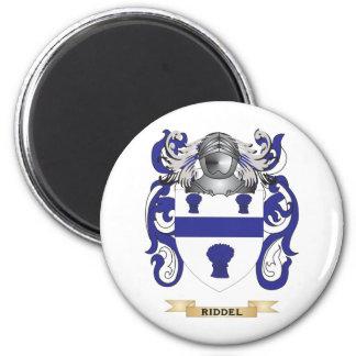 Escudo de armas de Riddel (escudo de la familia) Imán Redondo 5 Cm