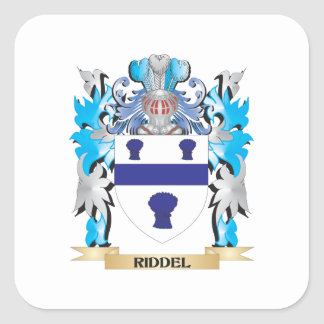 Escudo de armas de Riddel - escudo de la familia Pegatina Cuadrada