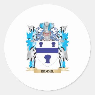 Escudo de armas de Riddel - escudo de la familia Pegatina Redonda