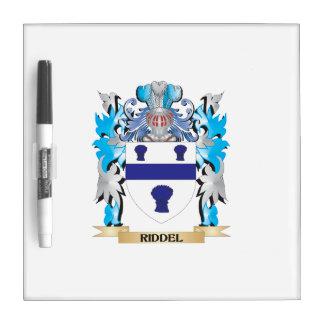Escudo de armas de Riddel - escudo de la familia Pizarra Blanca