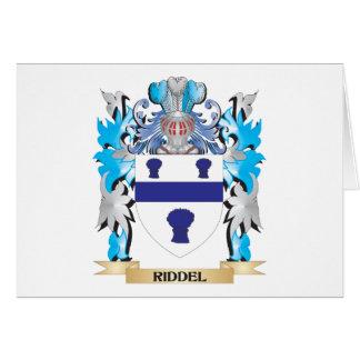 Escudo de armas de Riddel - escudo de la familia Tarjeta Pequeña