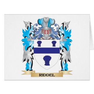 Escudo de armas de Riddel - escudo de la familia Tarjeta De Felicitación Grande
