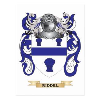 Escudo de armas de Riddel escudo de la familia Tarjeta Postal