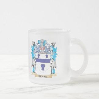 Escudo de armas de Riddel - escudo de la familia Taza Cristal Mate