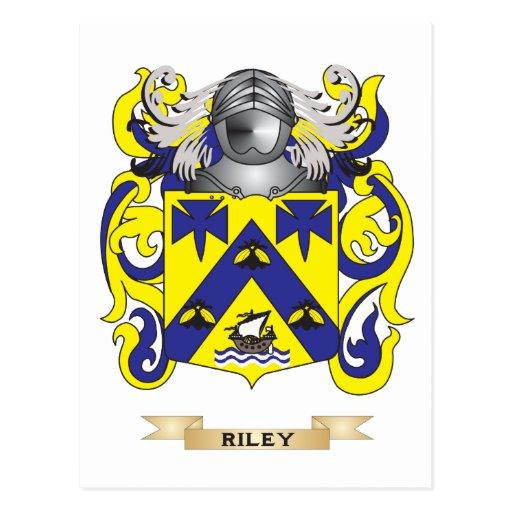 Escudo de armas de Riley (escudo de la familia) Tarjeta Postal