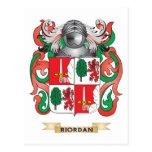 Escudo de armas de Riordan (escudo de la familia) Postales