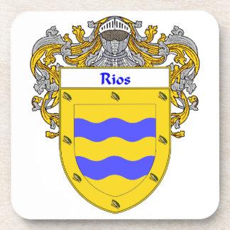 Escudo de armas de Rios/escudo de la familia Posavasos De Bebidas