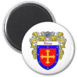 Escudo de armas de Rivas (cubierto) Imán Redondo 5 Cm
