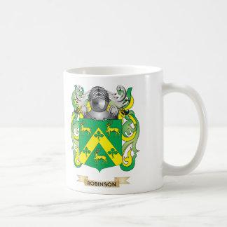 Escudo de armas de Robinson (escudo de la familia) Tazas De Café