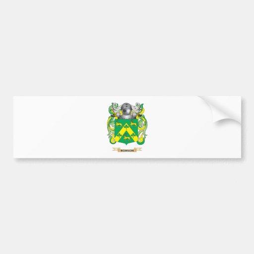 Escudo de armas de Robson (escudo de la familia) Pegatina De Parachoque
