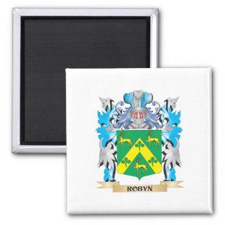 Escudo de armas de Robyn - escudo de la familia Imán Para Frigorífico