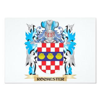 """Escudo de armas de Rochester - escudo de la Invitación 5"""" X 7"""""""