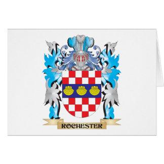 Escudo de armas de Rochester - escudo de la Tarjeta Pequeña
