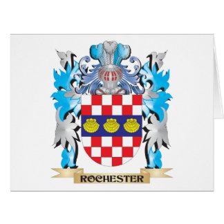 Escudo de armas de Rochester - escudo de la Tarjeta De Felicitación Grande