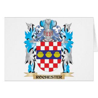 Escudo de armas de Rochester - escudo de la Tarjeta De Felicitación