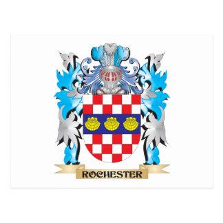 Escudo de armas de Rochester - escudo de la Tarjeta Postal