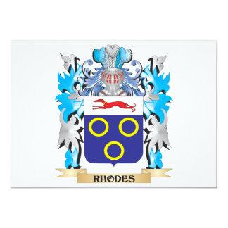 Escudo de armas de Rodas - escudo de la familia Comunicados Personalizados