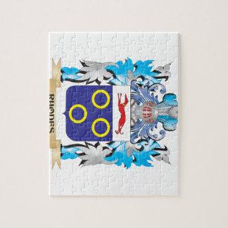Escudo de armas de Rodas - escudo de la familia Puzzle