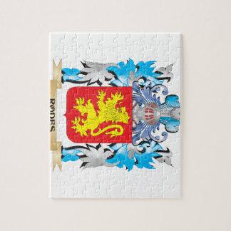 Escudo de armas de Rodes - escudo de la familia Puzzles Con Fotos