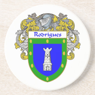 Escudo de armas de Rodrigues/escudo de la familia Posavasos Cerveza