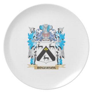 Escudo de armas de Rogerson - escudo de la familia Plato De Comida