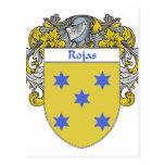 Escudo de armas de Rojas (cubierto) Postal