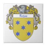 Escudo de armas de Rojas/escudo de la familia Azulejo Cerámica