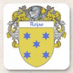 Escudo de armas de Rojas/escudo de la familia Posavasos De Bebida