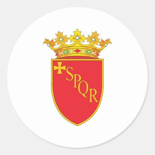 Escudo de armas de Roma Pegatina Redonda