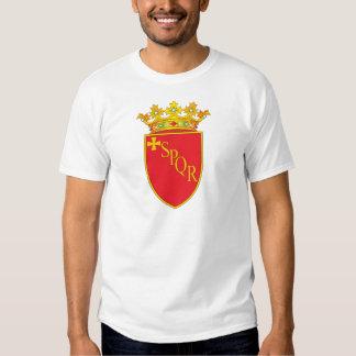 Escudo de armas de Roma Remeras